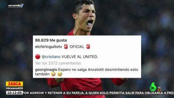 El mensaje de Georgina Rodríguez a Ancelotti tras el fichaje de Cristiano por el Manchester United