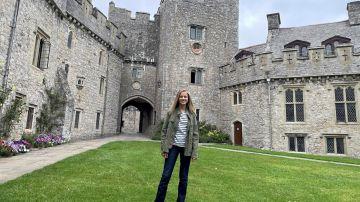 La princesa Leonor de Borbón a su llegada al UWC Atlantic College de Gales