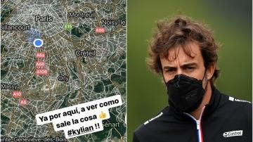 El 'agente' Fernando Alonso, expectante por el fichaje de Mbappé por el Madrid desde París