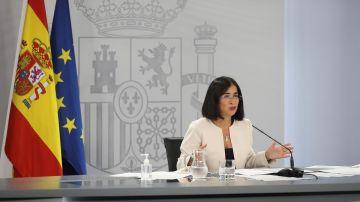 La ministra de Sanidad, Carolina Darias, comparece tras el Consejo Interterritorial