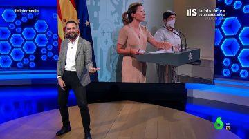 El Dani Mateo más rockero da la bienvenida a la ministra Raquel Sánchez al ritmo de 'Bienvenidos'
