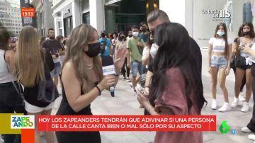 Histórico momento en Zapeando: encontramos a una cantante internacional por sorpresa en directo en plena Gran Vía