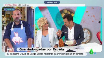 La reacción de Iñaki López al probar la receta de 'guarrindongada' de Cristina Pardo
