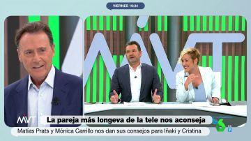 """La anécdota de Cristina Pardo en su primer encuentro con Matías Prats: """"Cuando era pequeña le pedí trabajo"""""""