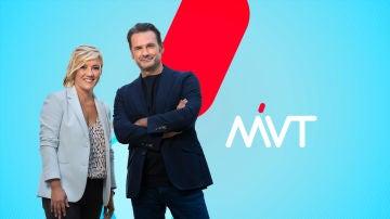 Iñaki López y Cristina Pardo, presentadores de Más Vale Tarde