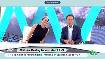 """El emotivo elogio de Mónica Carrillo a Matías Prats: """"Estamos ante el mejor narrador de noticias de nuestro país"""""""