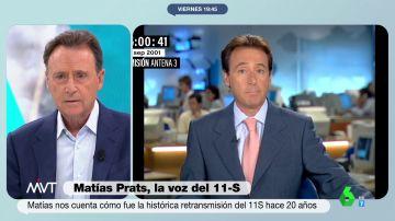 """Así recuerda Matías Prats cómo vivió en directo el atentado de las Torres Gemelas: """"Pensábamos en un accidente"""""""