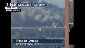 Así se descubrió en directo el fuego en el Pentágono tras el impacto de un tercer avión en pleno caos del 11S