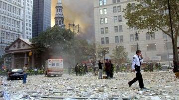Imagen de archivo de las inmediaciones del World Trade Center tras los atentados de las Torres Gemelas