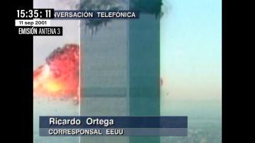 El momento en el que Matías Prats y Ricardo Ortega descubren en directo el 11S que eran dos aviones secuestrados con pasajeros
