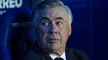 Ancelotti, en el banquillo del Real Madrid