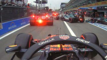 Caos en el 'pit lane' del GP de Italia