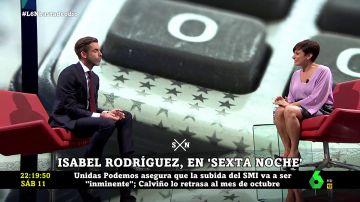 Isabel Rodríguez en laSexta Noche