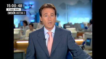 Así interrumpió Matías Prats el informativo en directo para contar el primer impacto contra un Torre Gemela el 11S