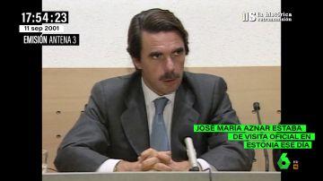 """Estas fueron las primeras palabras de José María Aznar sobre el 11S: """"No se debe distinguir entre terroristas"""""""
