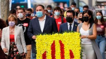 El desacuerdo en el Govern por la mesa de diálogo y la ampliación de El Prat marcan la Diada de Cataluña