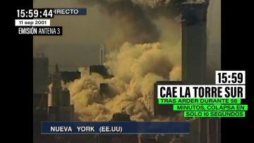 Así se vivió en directo el dramático momento en el que la segunda Torre Gemela se derrumba en tan solo diez segundos