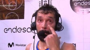 Las lágrimas de Sergio Llull