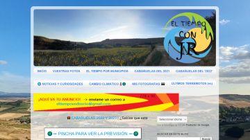 Imagen del blog lanzado por Jorge Rey, el joven 'meteorólogo' del tiempo burgalés