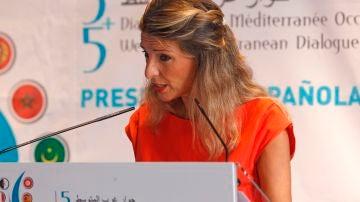 Yolanda Díaz en su encuentro en Alicante
