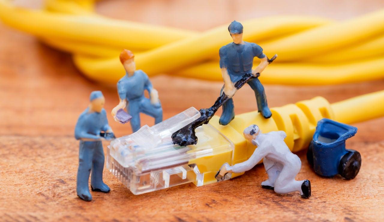 Trabajadores en miniatura