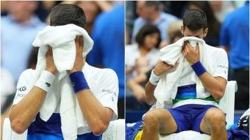 Novak Djokovic rompió a llorar en plena final del US Open