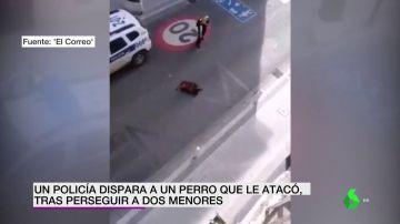 policía dispara a perro