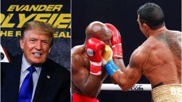 Donald Trump, protagonista en el regreso de Holyfield al ring