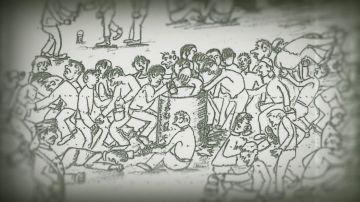 El sobrecogedor dibujo de un prisionero de un campo de concentración del franquismo