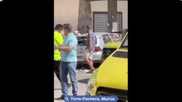 Momento del accidente en Torre-Pacheco, Murcia