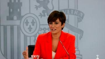 La ministra de Política Territorial y portavoz del Gobierno, Isabel Rodríguez, en una imagen de archivo.