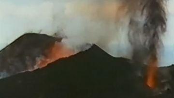 Imagen de archivo de la erupción del volcán Teneguía