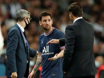 Leo Messi y Mauricio Pochettino