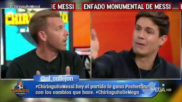 """Tenso cara a cara entre Jota Jordi y Edu Aguirre tras el enfado de Messi con Pochettino: """"¿Le compensa quitarle?"""""""