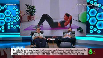 Hacer abdominales te puede provocar un orgasmo: El Intermedio analiza las noticias de bienestar en 'Relaxing cup news'