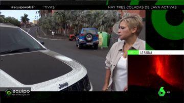 La reacción de Gloria Serra al ver cómo queda el coche de Equipo de Investigación por la ceniza