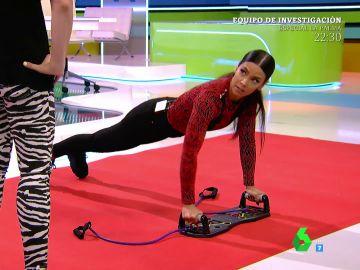 """Cristina Pedroche somete a un entrenamiento en directo a Valeria Ros: """"¡Por favor, hazlo bien!"""""""