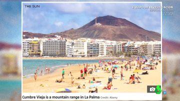 El error del diario británico 'The Sun' al informar de la erupción del volcán de la Palma