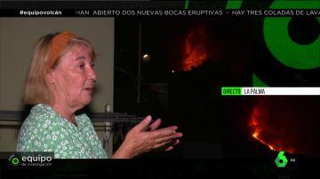 """Las impactantes vistas del volcán de La Palma desde la casa de una vecina: """"Vibran las ventanas continuamente"""""""
