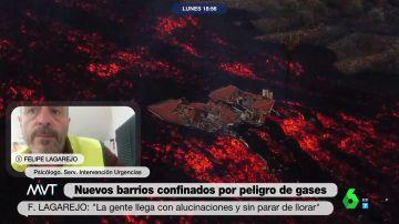 """El psicólogo Felipe Lagarejo, sobre los efectos de la erupción en los palmeros: """"Hay gente con alucinaciones auditivas y visuales"""""""