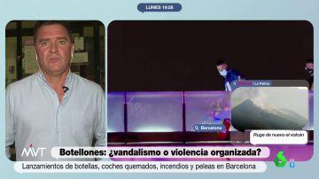 """Carlos Quílez desgrana quiénes están detrás de la violencia en los botellones de Barcelona: """"Son personas fichadas"""""""