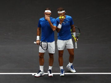 Roger Federer y Rafa Nadal forman pareja en dobles de la Laver Cup de 2017