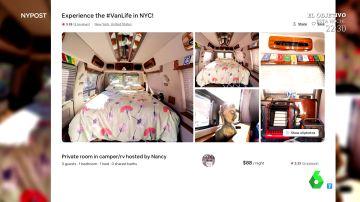 Así son por dentro las furgonetas que se alquilaban en AirBnb como alojamiento en Nueva York
