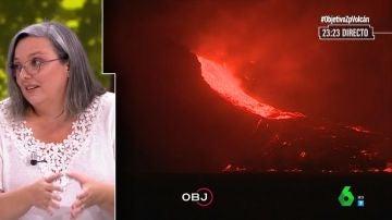 Alicia Felpeto, vulcanóloga del Instituto Geográfico Nacional, en El Objetivo.