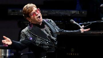 El cantante Elton John, en un concierto.