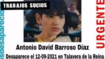 Antonio David Barroso, desaparecido desde el 12 de septiembre