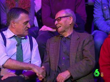 La emotiva charla de Wyoming con Agustín López, superviviente de los campos de concentración franquistas