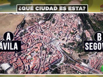 Ciudad española vista desde el aire