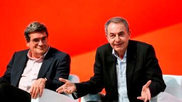 José Luis Rodríguez Zapatero interviene en el Congreso Federal del PSOE acompañado por José Luis Escrivá