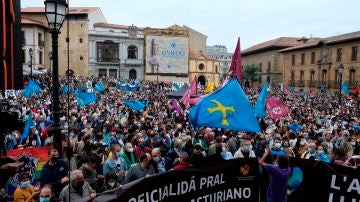 Manifestación en defensa de la oficialidad del asturiano